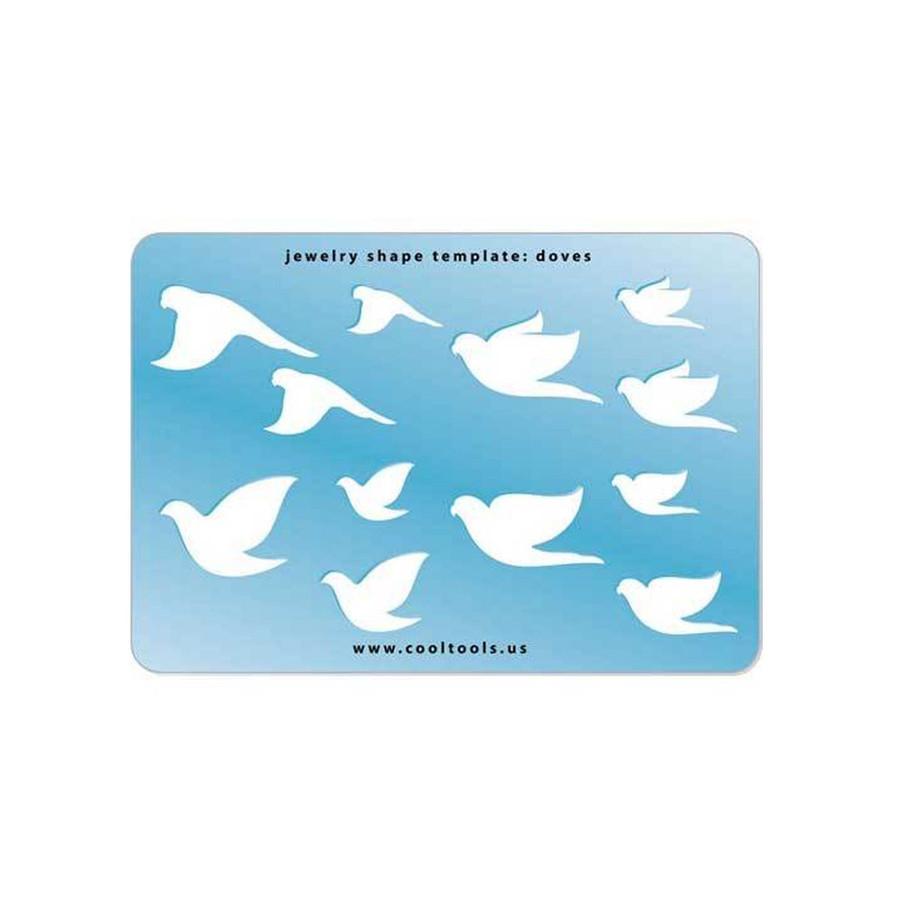 Jewellery shape template - Doves