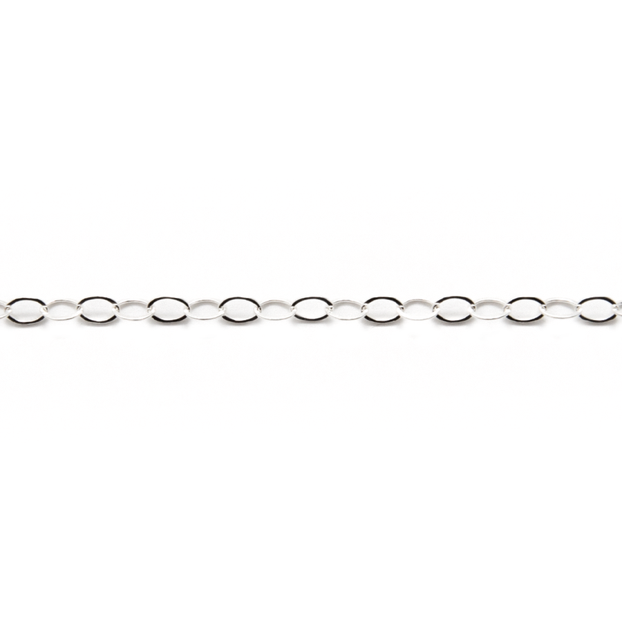 Open Oval Chain - Thin Light Weight 3 x 2mm