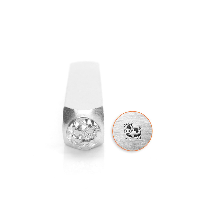 Metal Stamp Moo the Cow 6mm