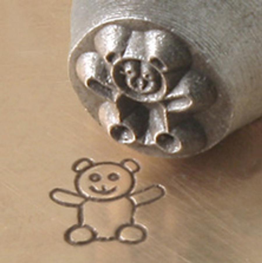 Metal Stamp Teddy Bear 6mm