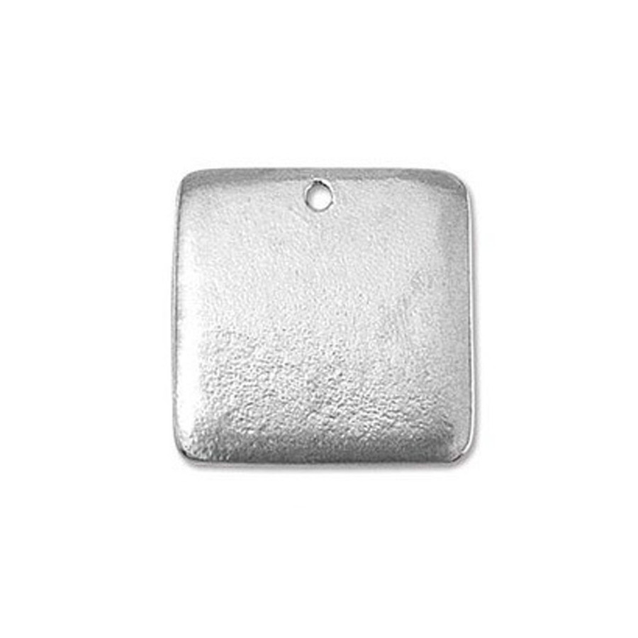 """Pewter Blank Square 15/16"""""""