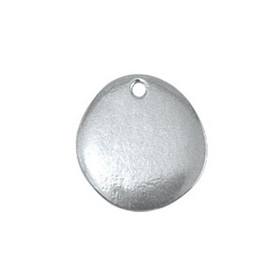Pewter Blank River Stone 3/4""