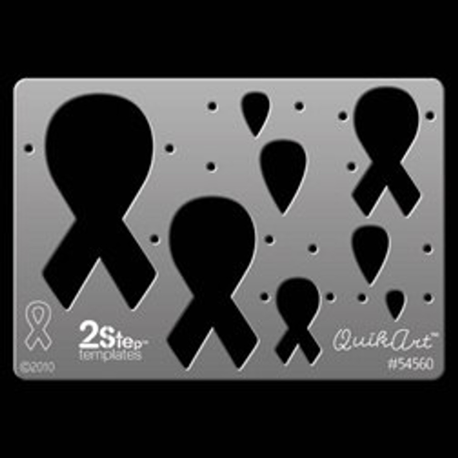 QuikArt 2-Step Template - Awareness Ribbon