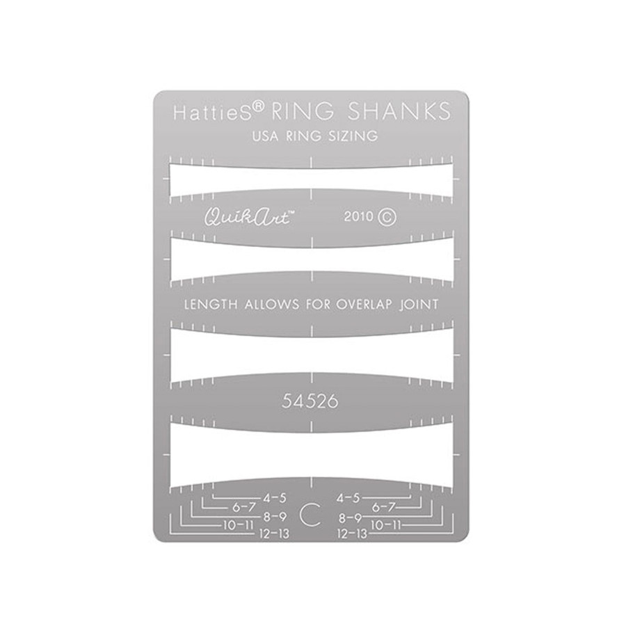 Hatties QuikArt Ring Shank Template - C