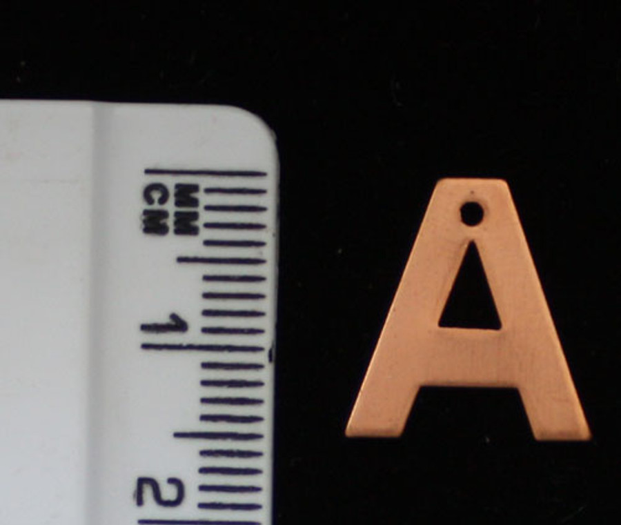 1pc Copper Alphabet Blank