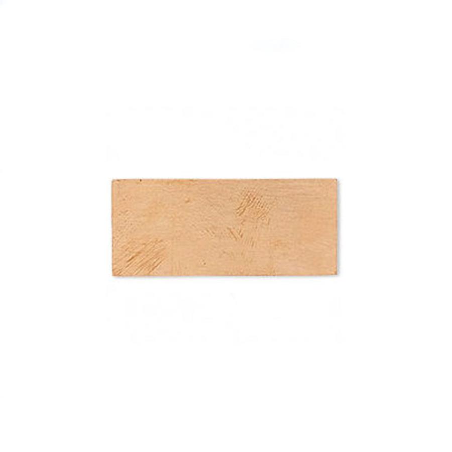 Blank Rectangle Embellishment - Copper - 30x13mm