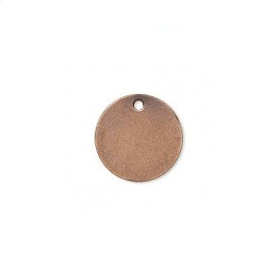 Antiqued Copper-Plated Drop Charm - 15mm