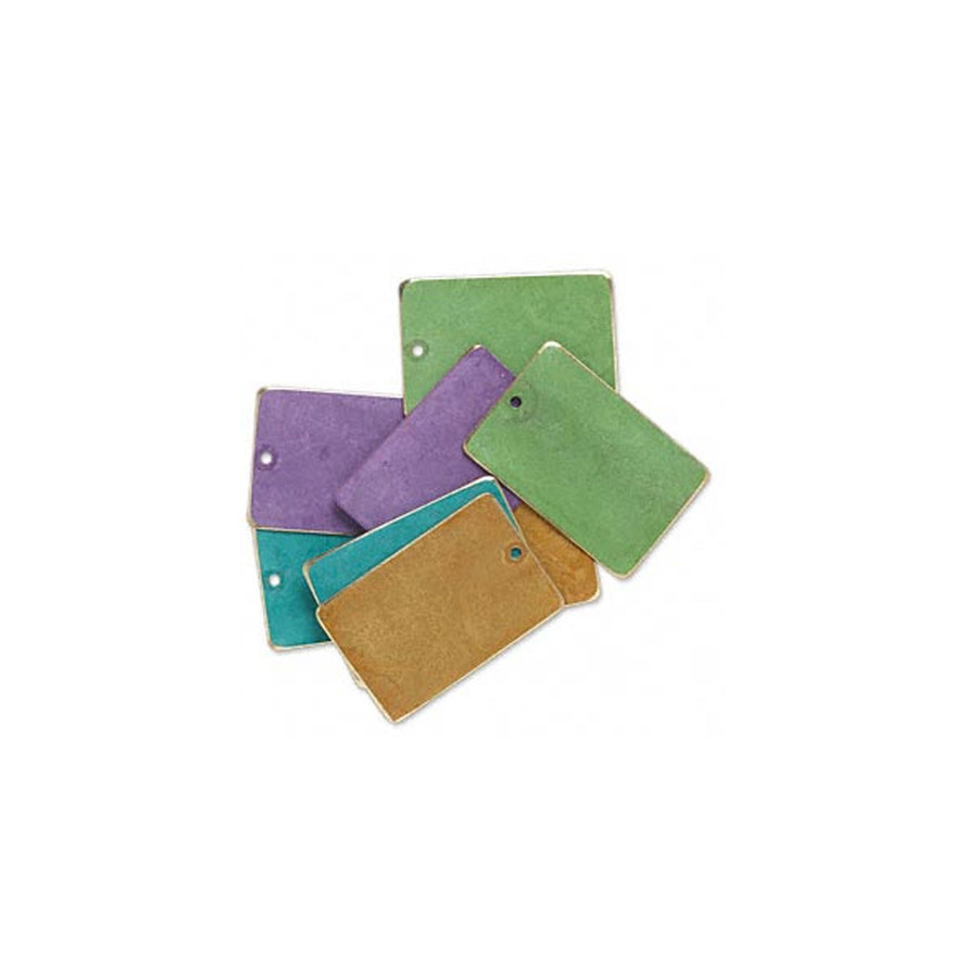 Rectangle Coloured Brass Blanks - Brights
