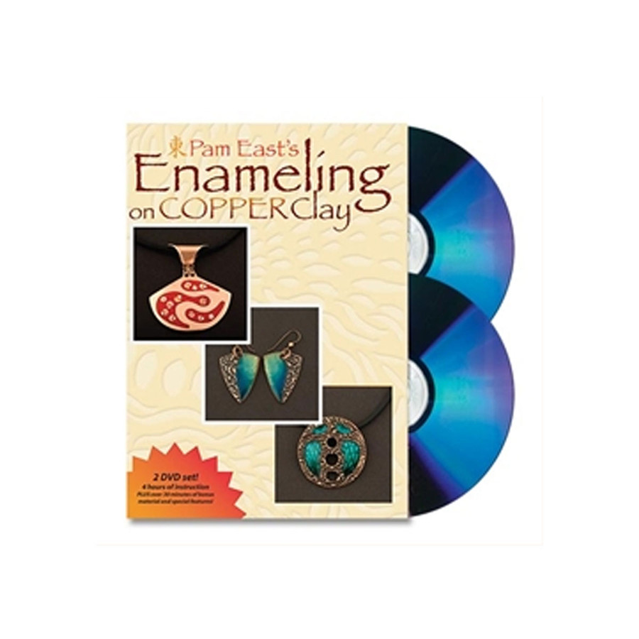 Pam East's Enameling on Copper Clay 2 DVD Set