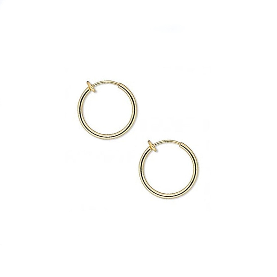Pierced Look Gold-Plated Earring