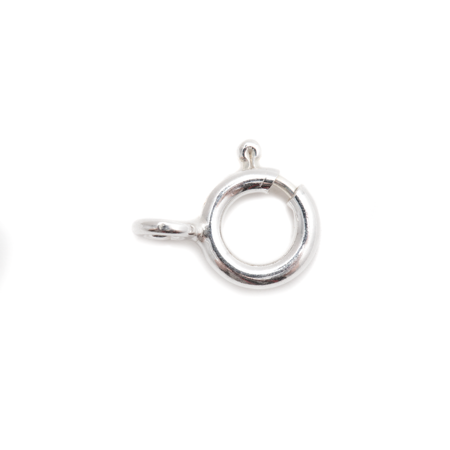 Sterling Silver and Steel Springring Clasp - 7mm