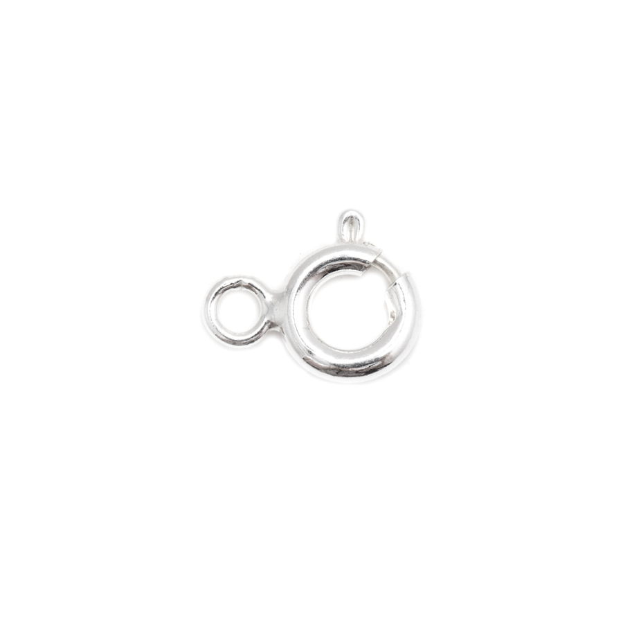 Sterling Silver and Steel Springring Clasp - 6mm