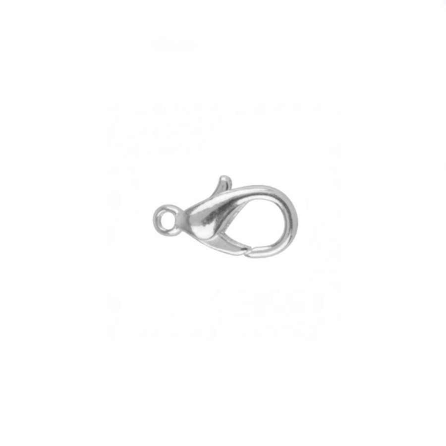 2pc Silver-Plated Lobster Claw Clasp - 9mm