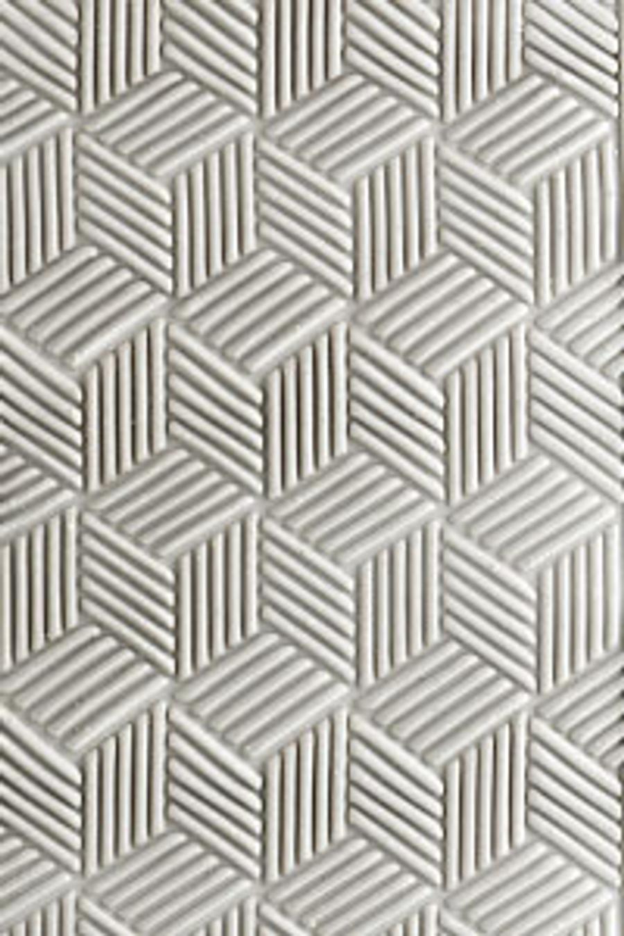 Acrylic Texture Roller - Cubic Weave 5cm