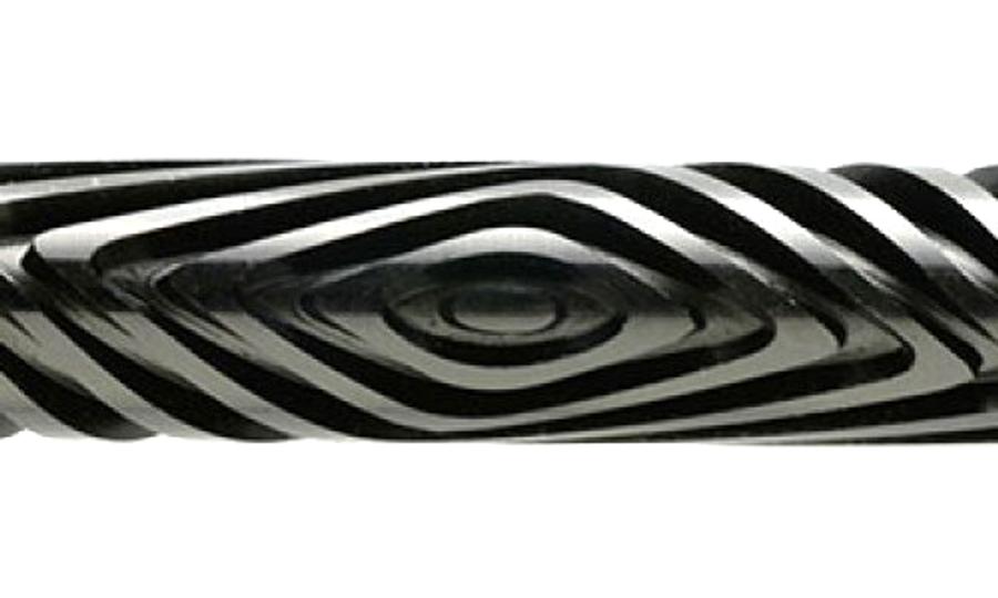 Acrylic Texture Large Roller (KPCR) - Square Rhythms - 7.5cm