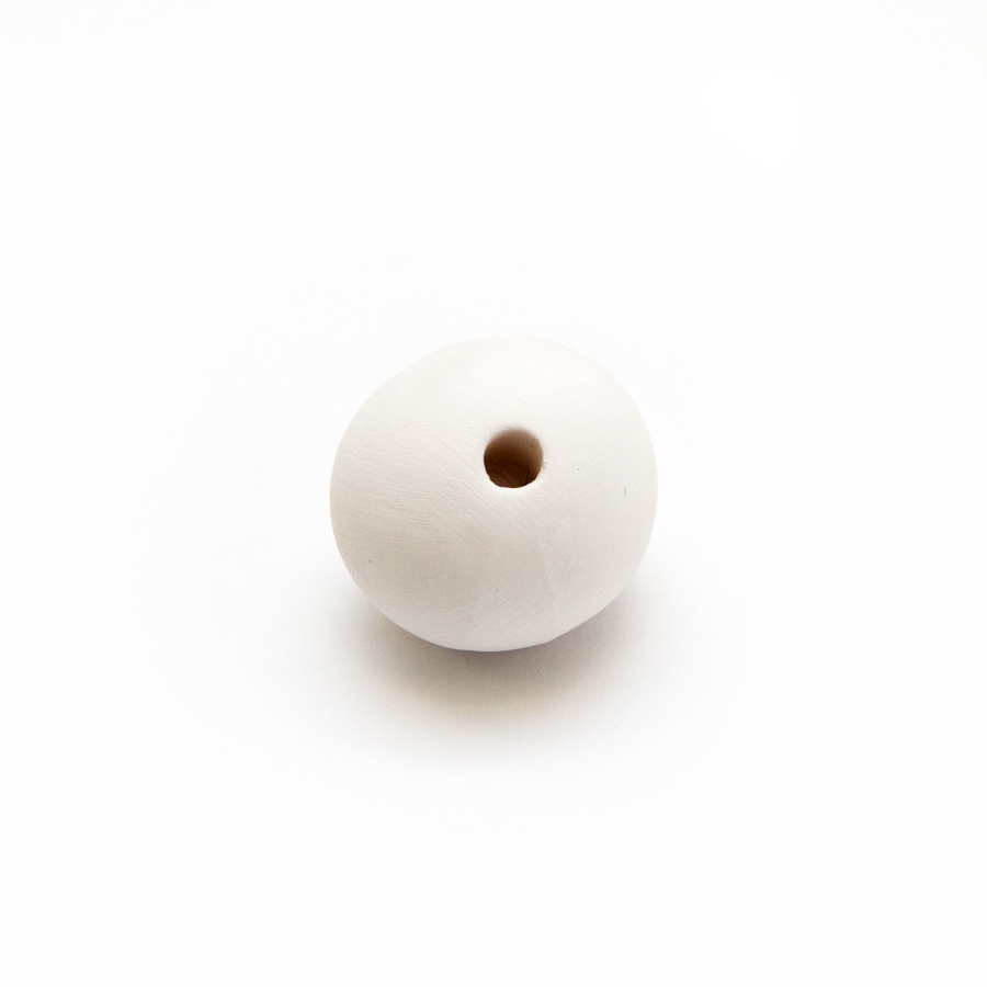 Ceramic Bead Unglazed - Medium Round