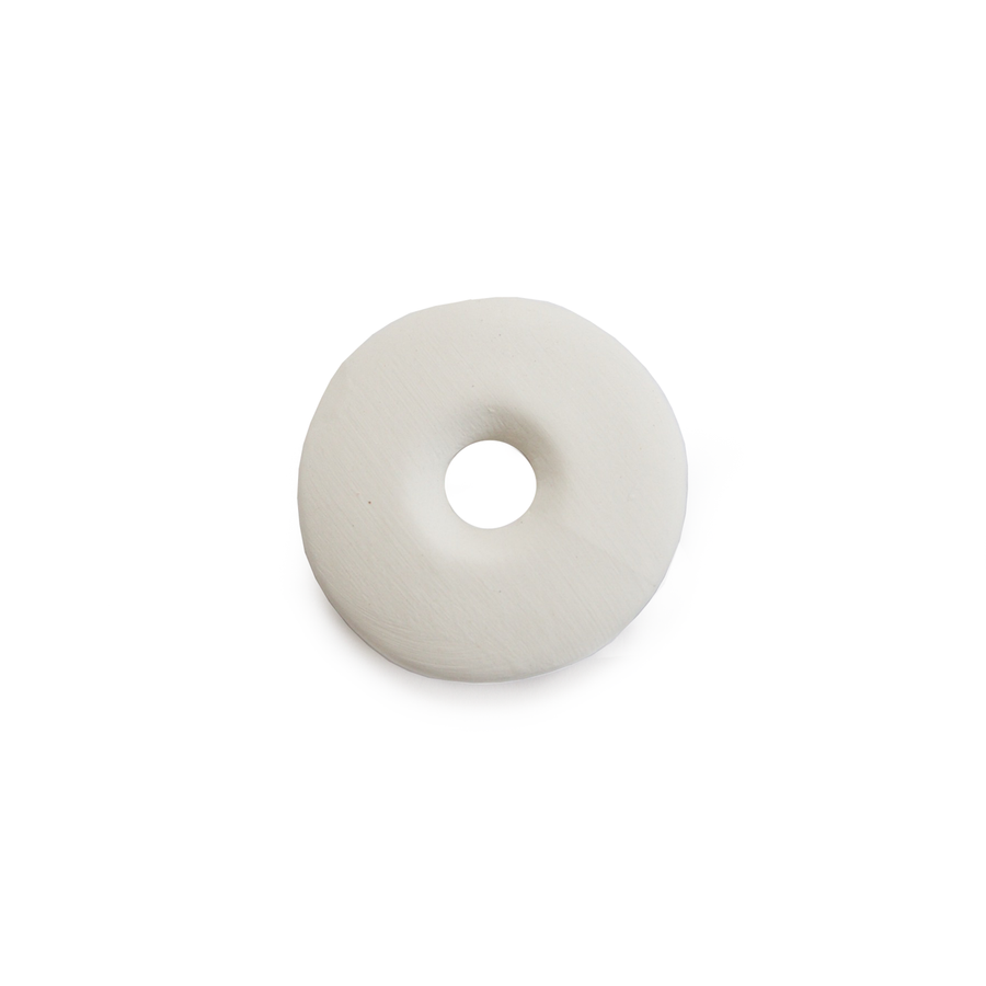 Ceramic Bead Unglazed - Flat Disc