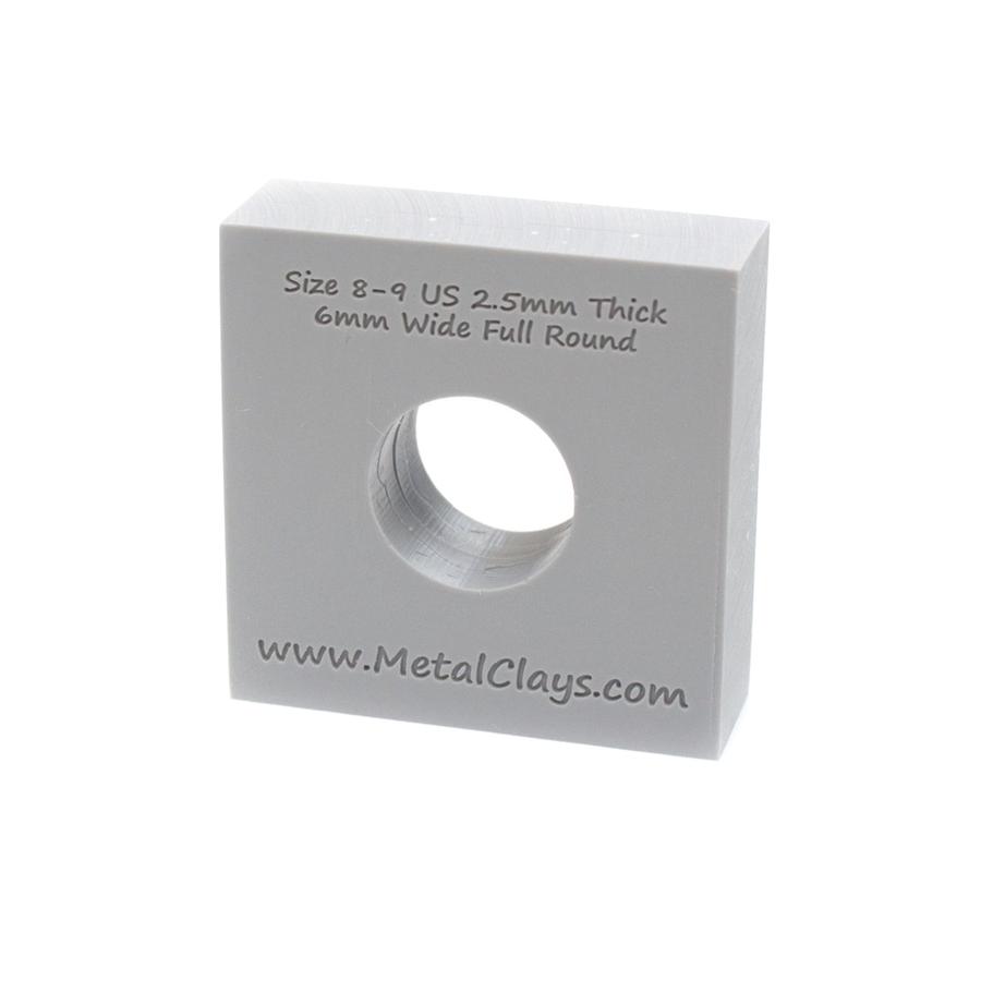 Ring Maker Mould 6mm Wide - UK Size P-R