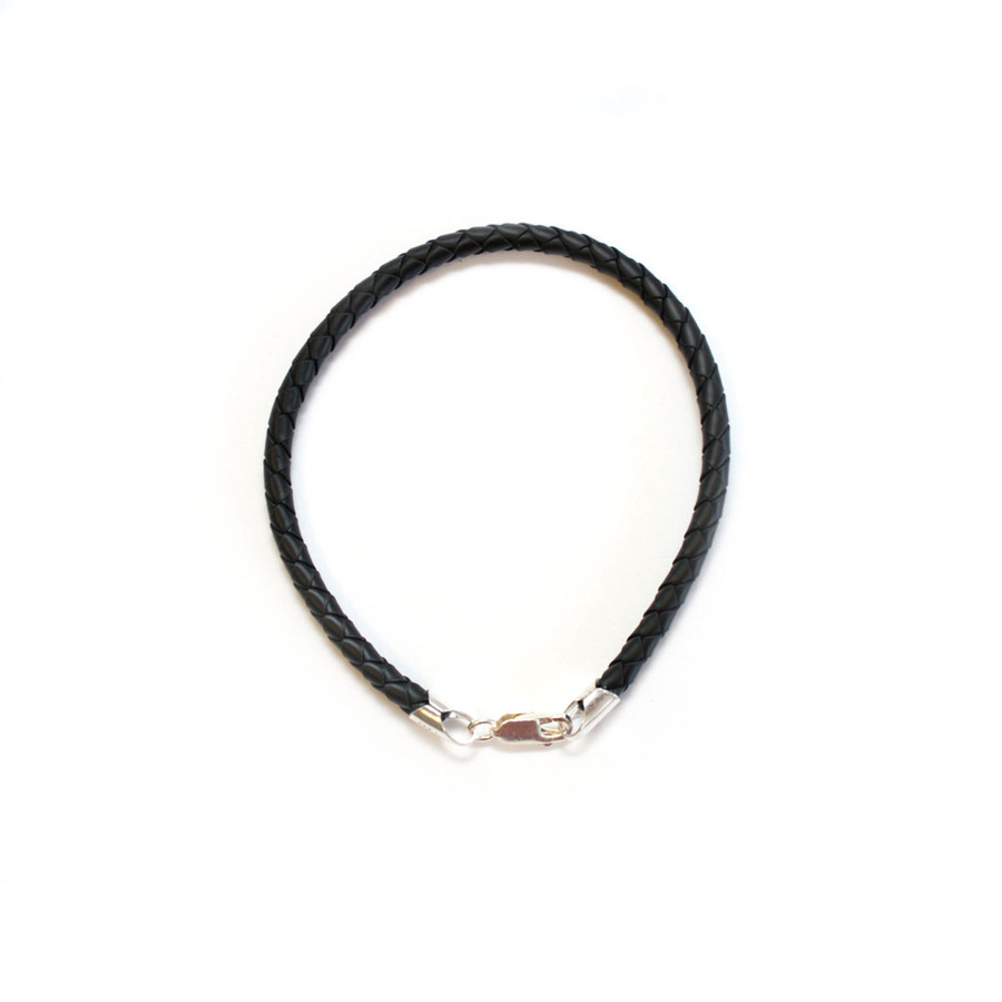 Bracelet -  4mm Rubber Cord/Sterling Silver