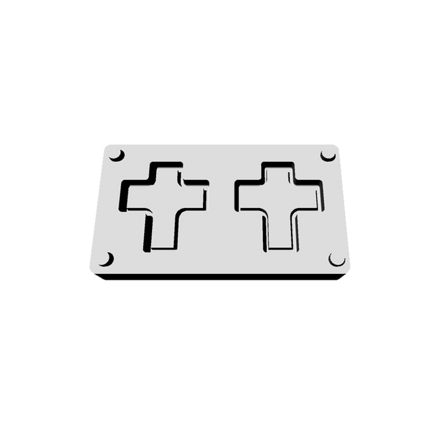 Bead Builder Mould Add-on - Frame Adapter - Cross