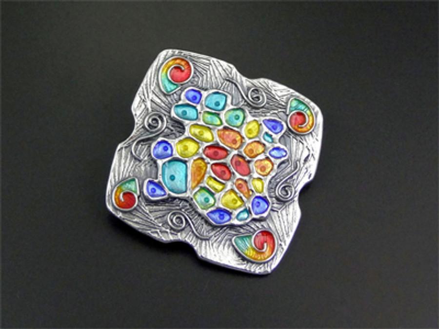 Silver & enamel 'Paleontal' by Joy Funnell