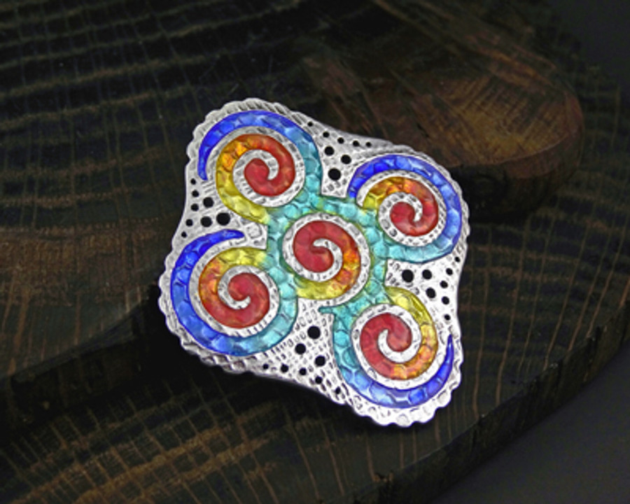Silver & enamel 'Spiralus' by Joy Funnell