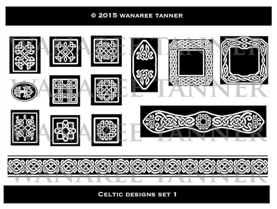 Wanaree Tanner Signature Texture Plate - Celtic 1 - Panels & Frames