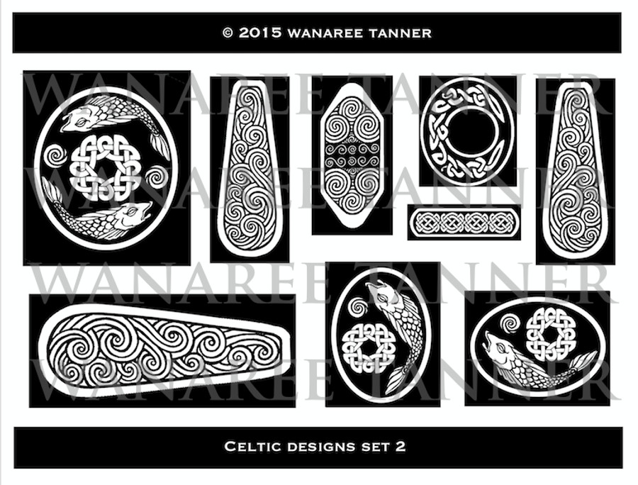 Wanaree Tanner Signature Texture Plate - Celtic 2 - Salmon of Knowledge
