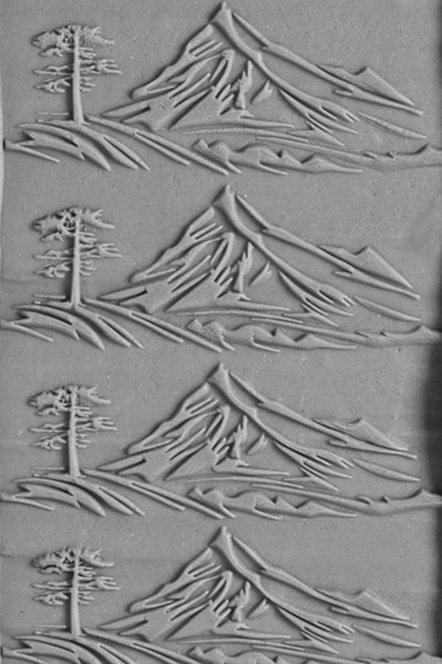 Large Acrylic Texture Roller - Lone Mountain Peak 7.5cm