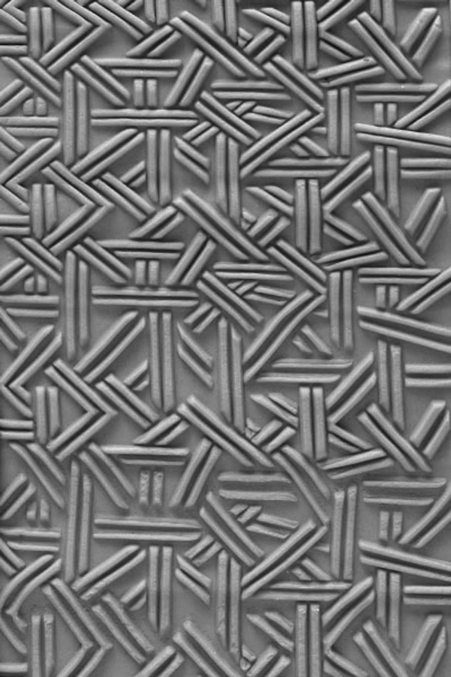 Acrylic Texture Large Roller (KPCR) - Crazy Wicker Weave - 7.5cm