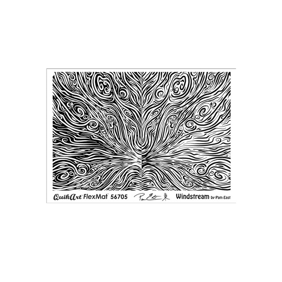Pam East FlexMat Texture Stamp - Windstream