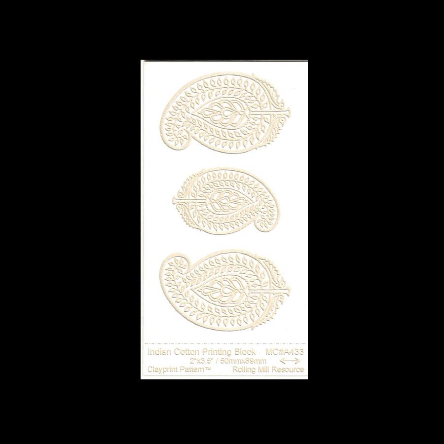 RMR Laser Texture Paper - Indian Cotton Printing Block - 50 x 89mm