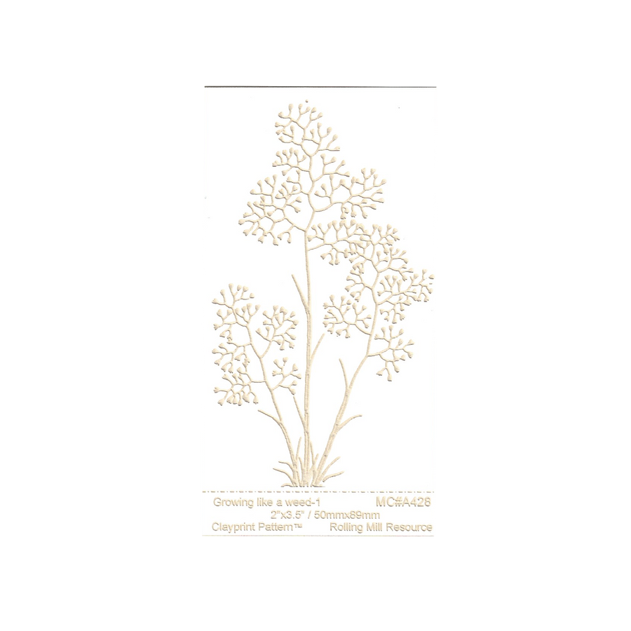RMR Laser Texture Paper - Growing Like a Weed 1 - 50 x 89mm