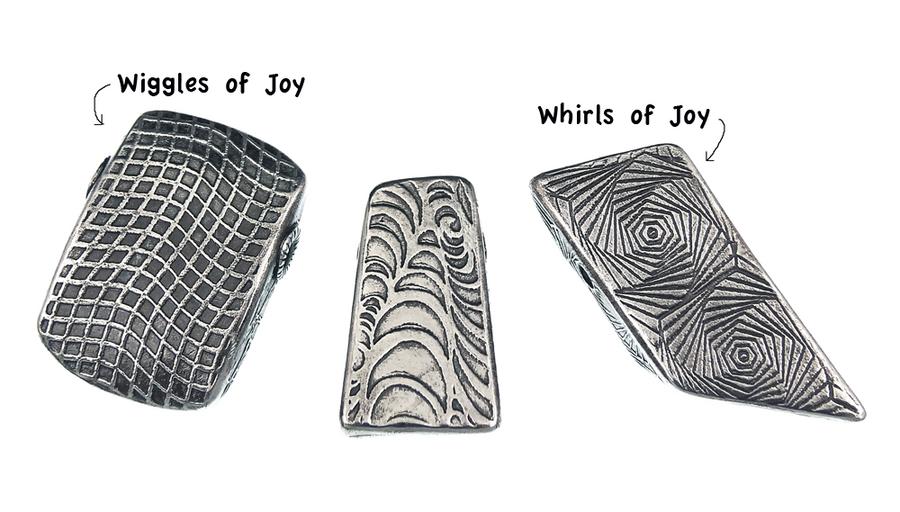 RMR Laser Texture Paper - Wiggles of Joy - 50 x 89mm