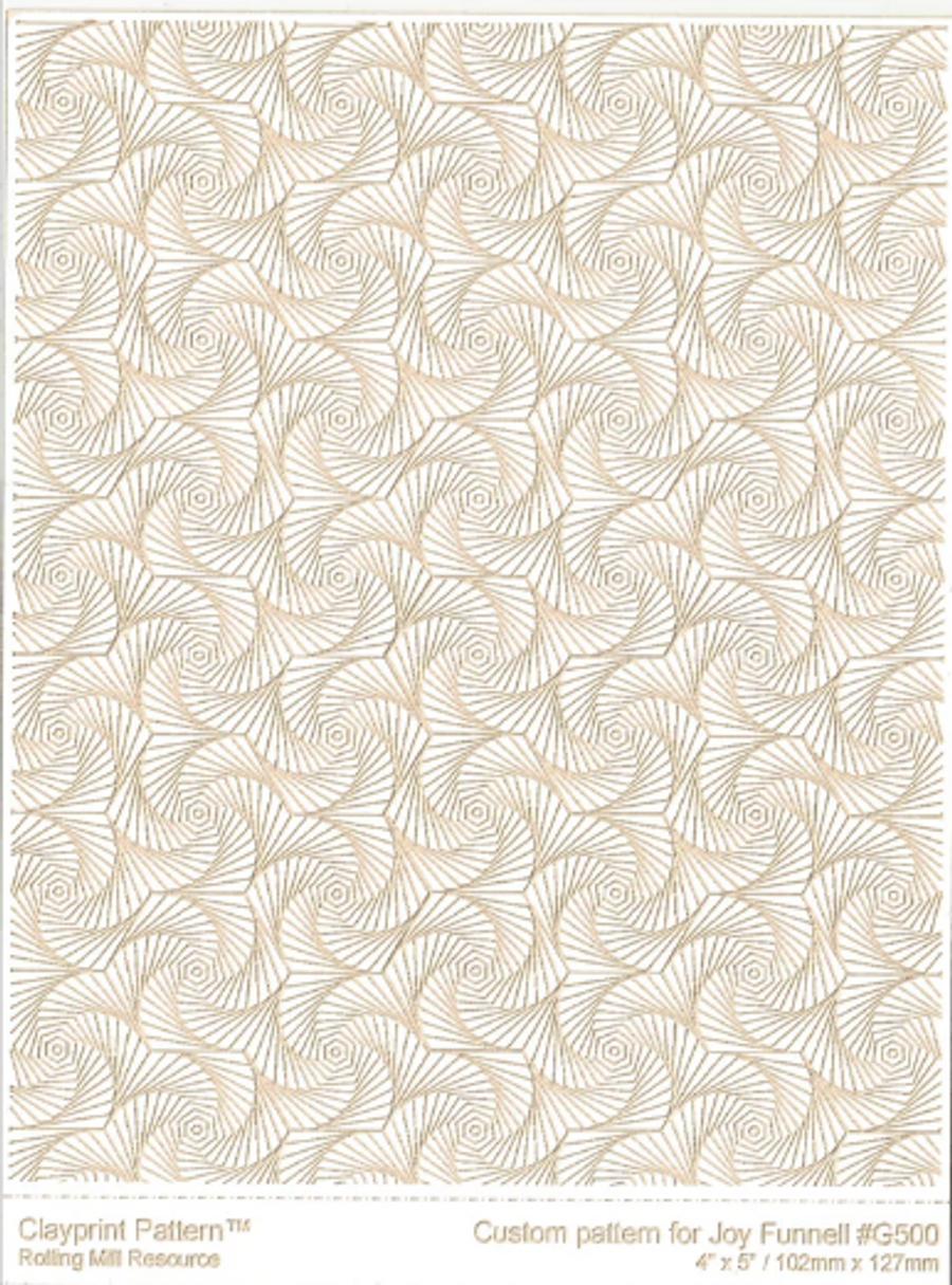 RMR Laser Texture Paper - Whirls of Joy - 102 x 127mm