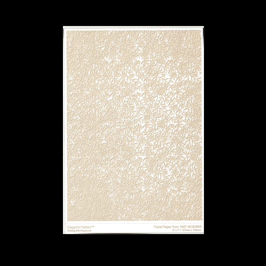 RMR Laser Texture Paper - Floral Paper - 127 x 178mm