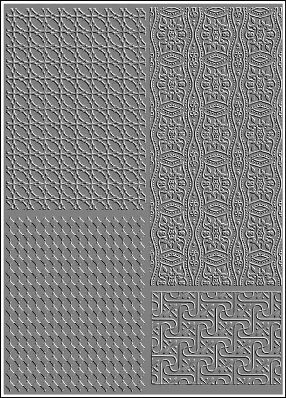 RMR Laser Texture Paper - Ornament - 127 x 178mm