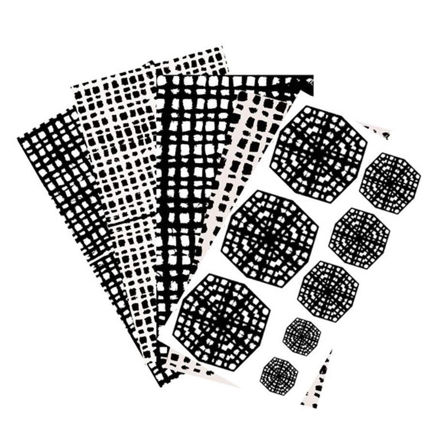 RMR Laser Texture Paper - Hopsack Collection (Set of 5)  - 50 x 89mm