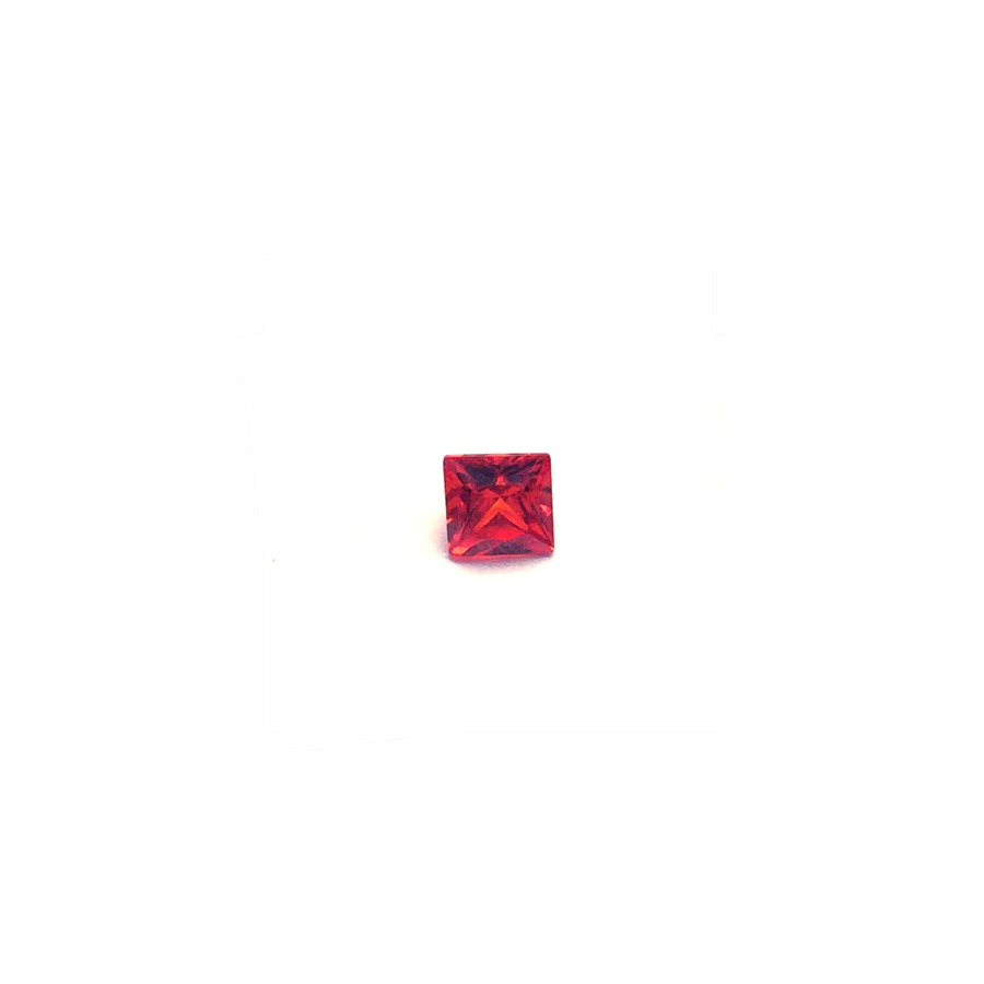 Lab Created Gemstone - Garnet Square