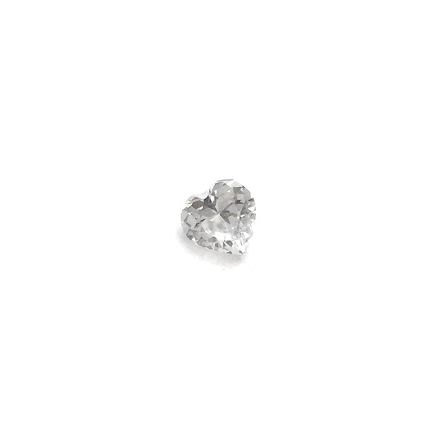 Lab Created Gemstone - White Heart
