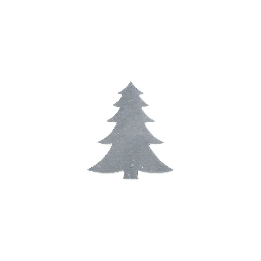 Aluminium Blank - Fir Tree - 46 x 40mm
