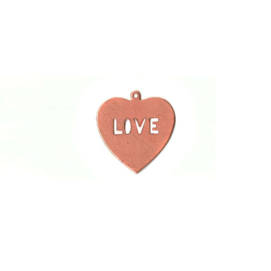 Copper Blank - Love Heart - 36 x 39mm