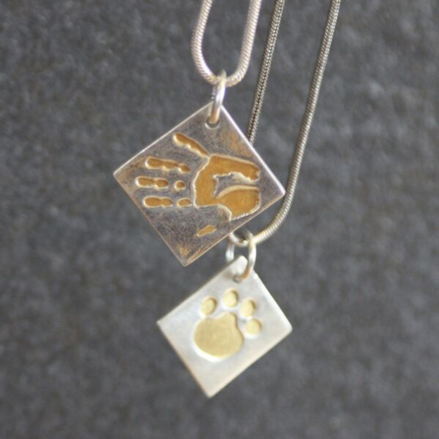 Ideal plate for making hand and foot print keepsake jewellery