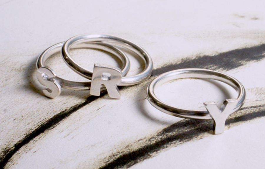 Sterling Silver rings made with ACS 950