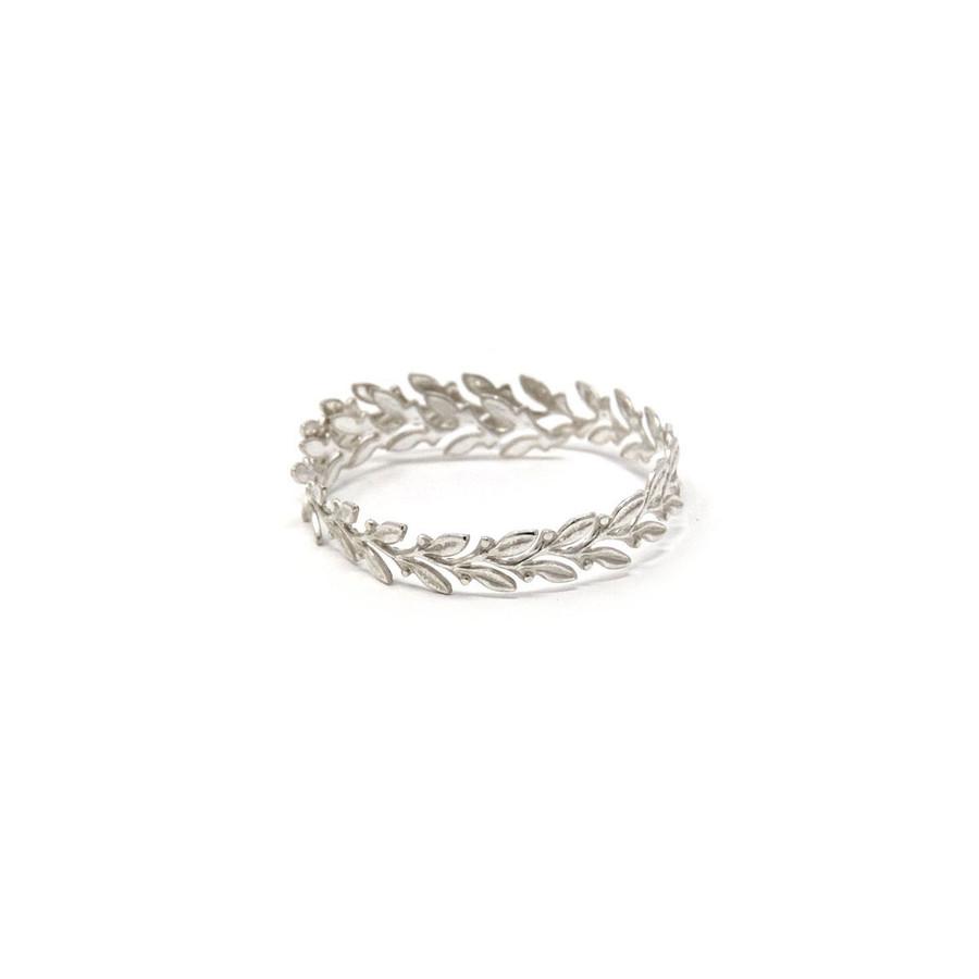 Sterling Silver Royal Bezel Wire - Leaf (10cm)