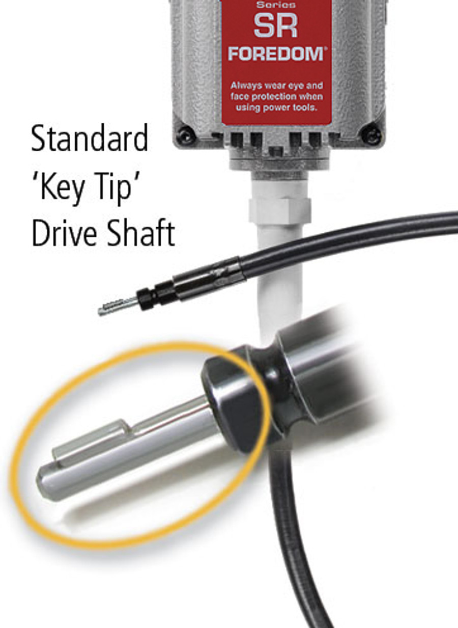 Key tip drive shaft - the most common