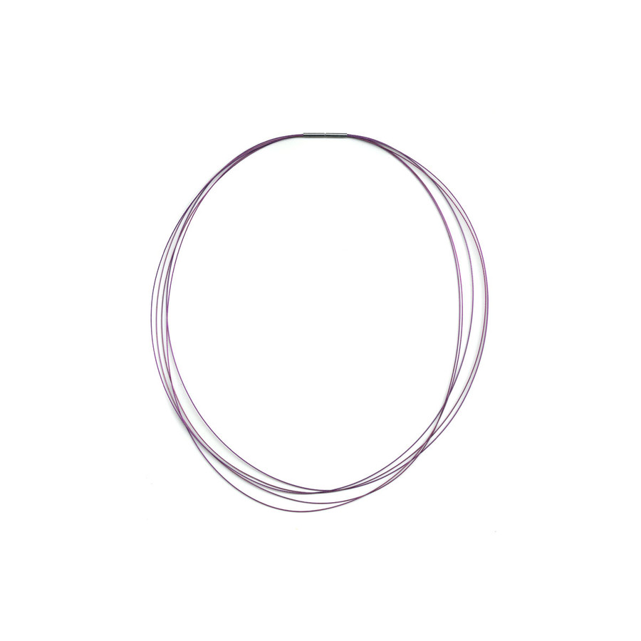 Stainless Steel Choker Necklace - Purple