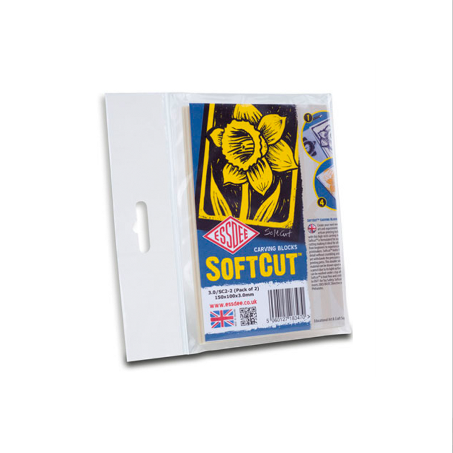 SoftCut Carving Blocks - 150x100mm - Pack of 2