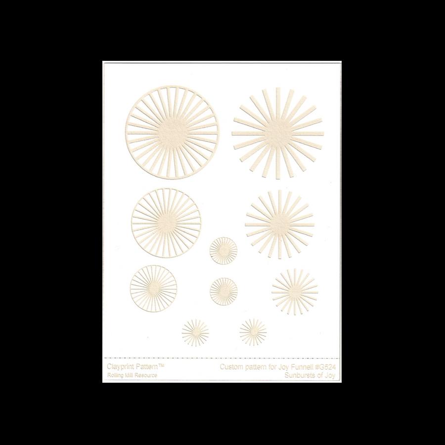 RMR Laser Texture Paper - Sunbursts of Joy - 102 x 127mm