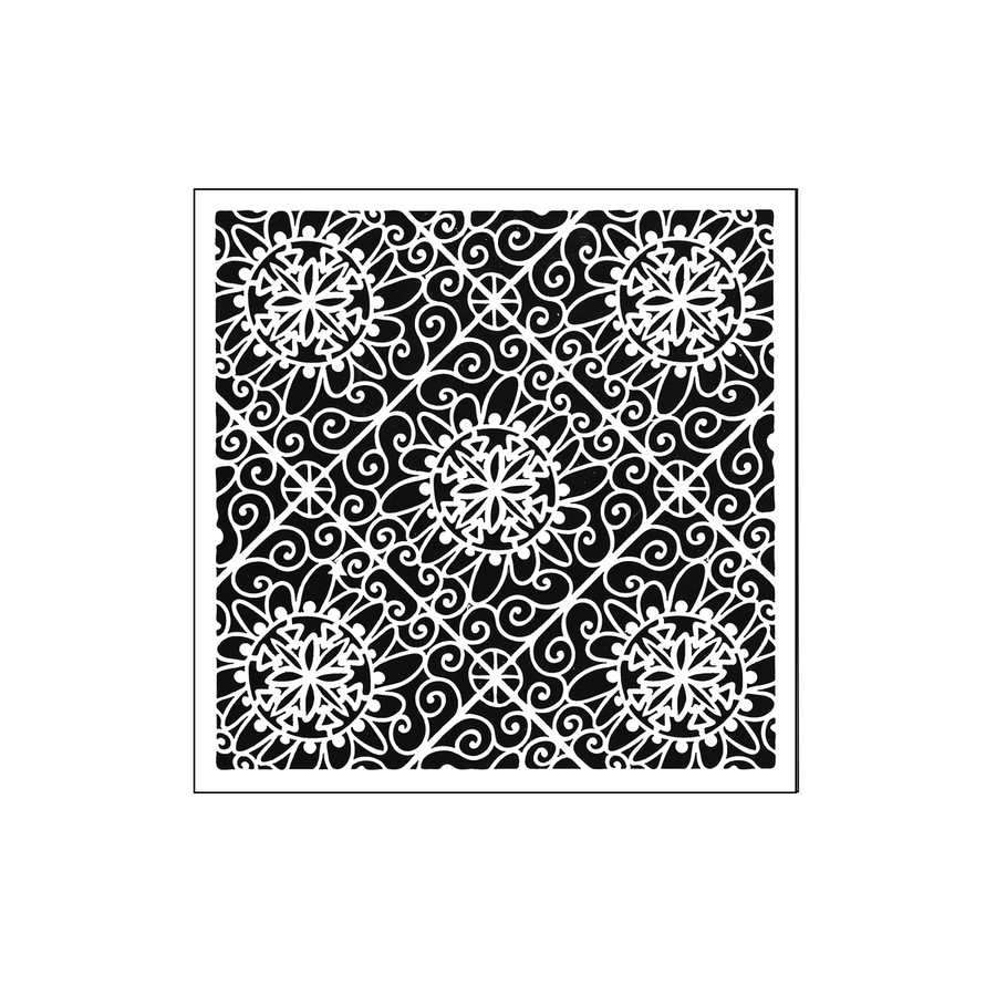 The Crafters Workshop 6x6 Stencil - Lacy Tiles